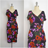 Vintage Inspired 1950s Poppy Perfection Wrap Effect Dress