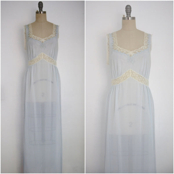 Vintage 1950s Baby Blue Nightgown - Vintage World Rocks - 1