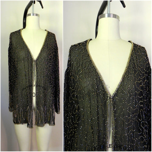 Vintage 1950s Silk Sequin Blouse - Vintage World Rocks - 1