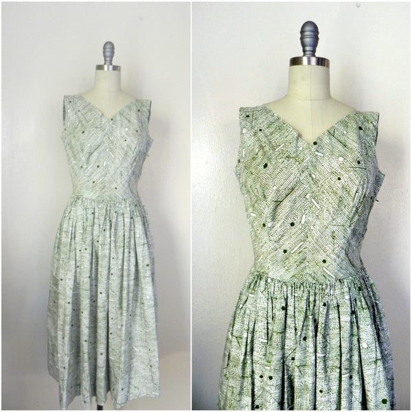 Vintage 1960s -1970s Handmade Light Green Day Dress - Vintage World Rocks - 1