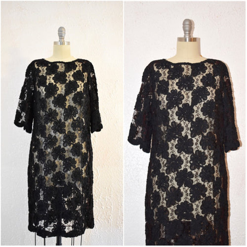 Vintage 1960s Lace Shift Dress - Vintage World Rocks - 1
