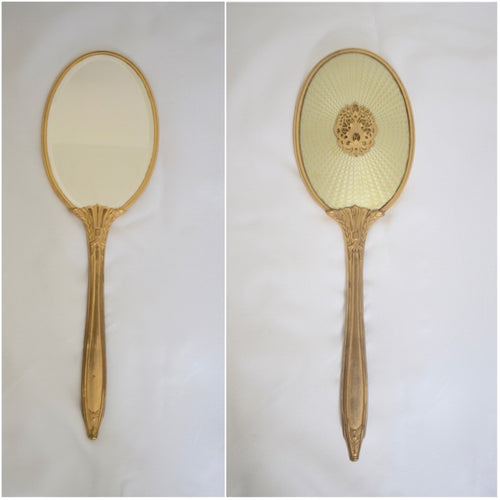 Antique Gilded Mirror with Decorative Motif