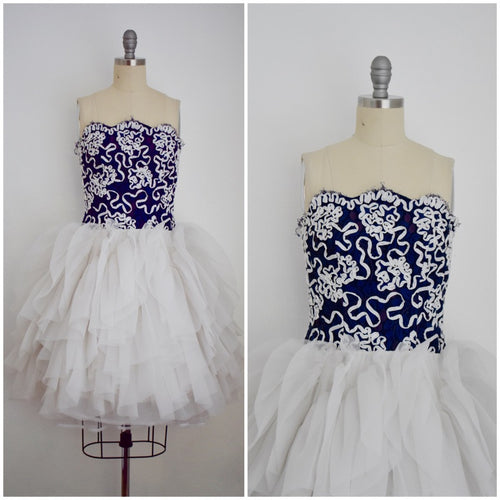 Vintage 1980s Lilli Diamond Ribbon Dress
