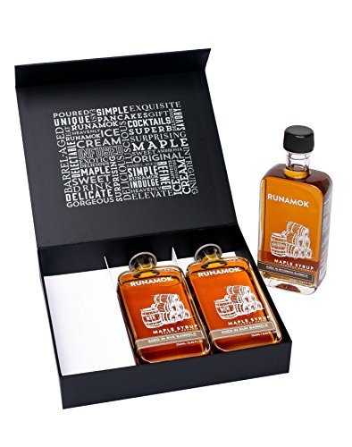 Gift Box of 3 Bottles of Barrel-Aged and Infused Maple Syrups (Barrel-Aged Collection)