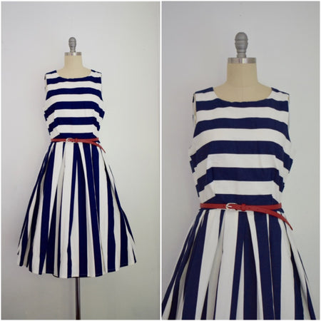 Vintage Inspired 1950s Style Norma Jean Sweet Romance Blue Dress