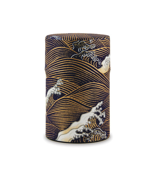 Rishi: Japanese Washi Tea Tin: Blue Wave Pattern