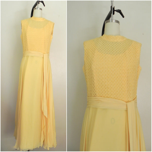 Vintage 1970s Yellow Sleeveless Dress - Vintage World Rocks - 1