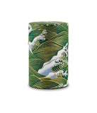 Rishi: Japanese Washi Tea Tin: Green Wave Pattern