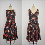 Vintage Inspired 1950s Style Hearts & Daggers Tea Dress