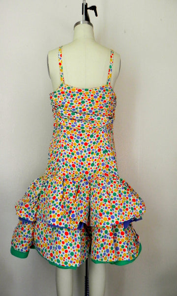 Vintage 1980s Oscar de la Renta Miss O Polka Dots Dress - Vintage World Rocks - 6