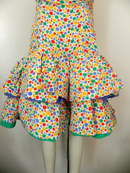 Vintage 1980s Oscar de la Renta Miss O Polka Dots Dress - Vintage World Rocks - 8