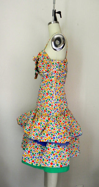 Vintage 1980s Oscar de la Renta Miss O Polka Dots Dress - Vintage World Rocks - 3