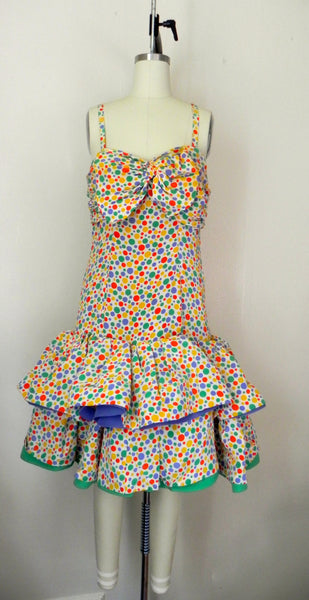Vintage 1980s Oscar de la Renta Miss O Polka Dots Dress - Vintage World Rocks - 4