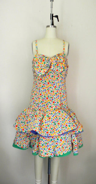 Vintage 1980s Oscar de la Renta Miss O Polka Dots Dress - Vintage World Rocks - 2