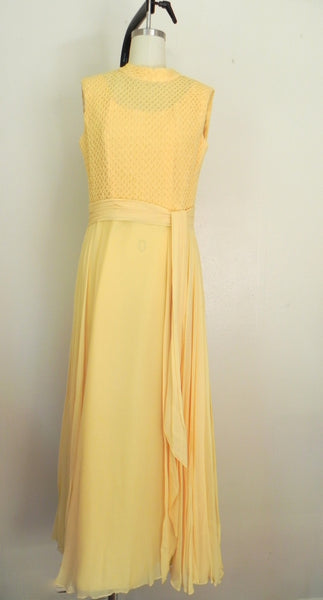 Vintage 1970s Yellow Sleeveless Dress - Vintage World Rocks - 2