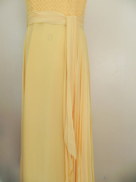 Vintage 1970s Yellow Sleeveless Dress - Vintage World Rocks - 4