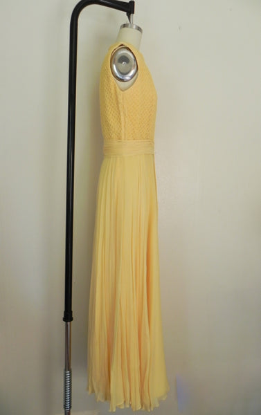 Vintage 1970s Yellow Sleeveless Dress - Vintage World Rocks - 5