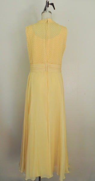Vintage 1970s Yellow Sleeveless Dress - Vintage World Rocks - 6