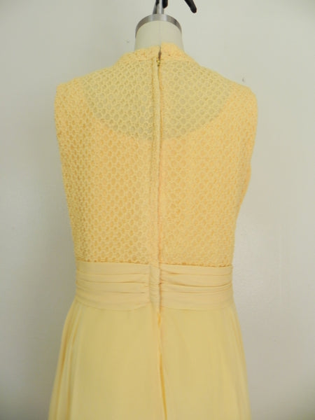 Vintage 1970s Yellow Sleeveless Dress - Vintage World Rocks - 7