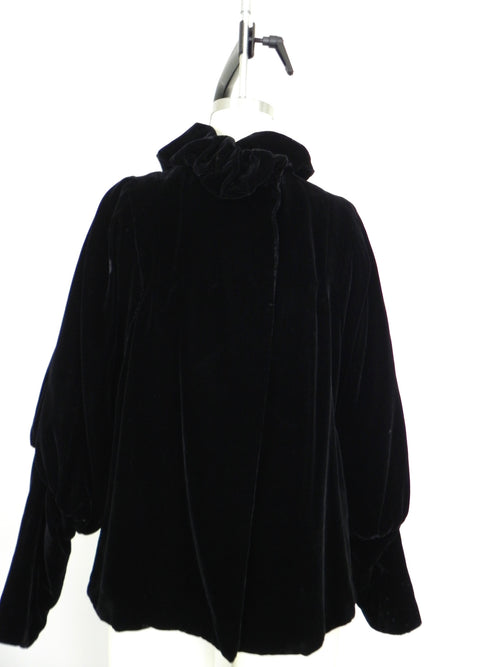 Late 1960s Vintage Black Velvet Jacket/Coat - Vintage World Rocks - 2