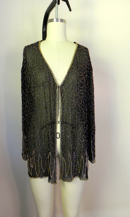 Vintage 1950s Silk Sequin Blouse - Vintage World Rocks - 2