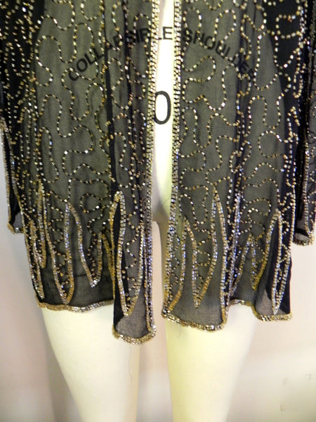 Vintage 1950s Silk Sequin Blouse - Vintage World Rocks - 3