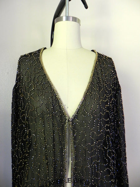 Vintage 1950s Silk Sequin Blouse - Vintage World Rocks - 4