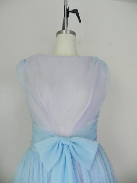 1950s Pastel Blue Sleeveless Dress - Vintage World Rocks - 5