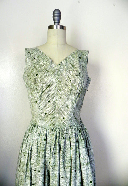 Vintage 1960s -1970s Handmade Light Green Day Dress - Vintage World Rocks - 2