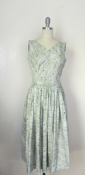Vintage 1960s -1970s Handmade Light Green Day Dress - Vintage World Rocks - 3