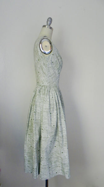 Vintage 1960s -1970s Handmade Light Green Day Dress - Vintage World Rocks - 5