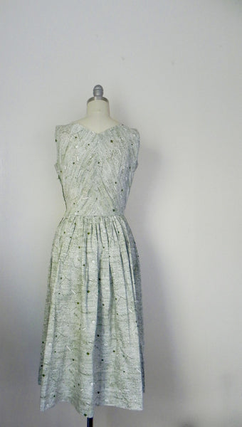 Vintage 1960s -1970s Handmade Light Green Day Dress - Vintage World Rocks - 6