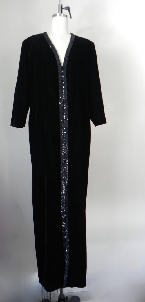 Vintage Yves Saint Laurent  Rive Gauche Black Velvet Evening Gown - Vintage World Rocks - 2