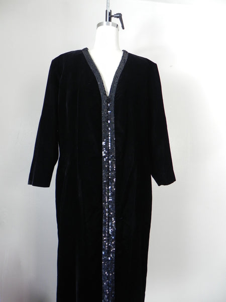 Vintage Yves Saint Laurent  Rive Gauche Black Velvet Evening Gown - Vintage World Rocks - 3
