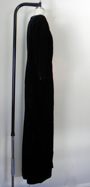 Vintage Yves Saint Laurent  Rive Gauche Black Velvet Evening Gown - Vintage World Rocks - 4