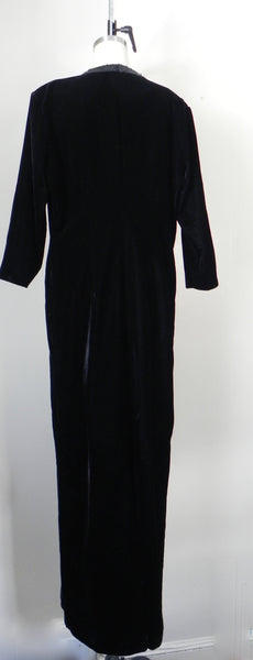 Vintage Yves Saint Laurent  Rive Gauche Black Velvet Evening Gown - Vintage World Rocks - 5