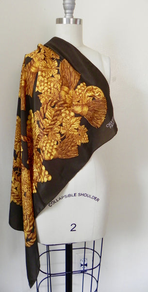 CHANEL SILK SCARF, Made in France. 100% silk. - Vintage World Rocks - 2
