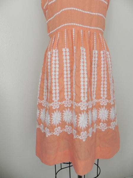 Vintage 1960s L'Aiglon Original Salmon Sleeveless Dress - Vintage World Rocks - 3