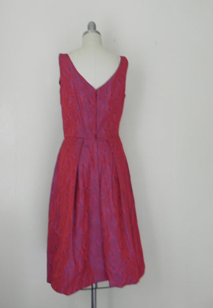 Vintage 1950s-1960s Red Sleeveless Evening Dress - Vintage World Rocks - 6