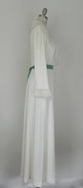 Vintage Off White Wrapped Nightgown - Vintage World Rocks - 4
