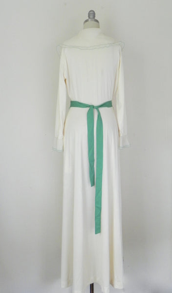 Vintage Off White Wrapped Nightgown - Vintage World Rocks - 5