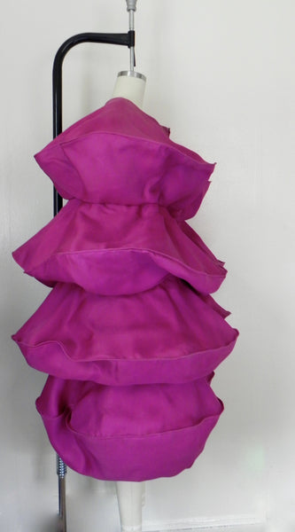 For Rental or Purchase Vintage 1950s Purple Dress and Cape - Vintage World Rocks - 13