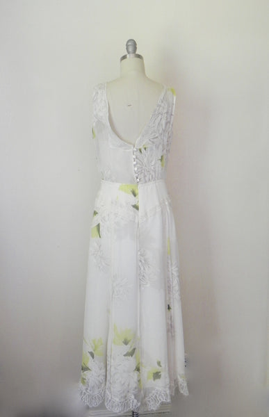 Vintage Inspired Rickie Freeman Couture Silk Chiffon Print Dress. - Vintage World Rocks - 4