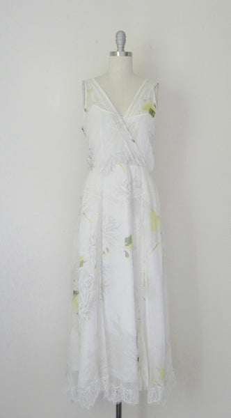 Vintage Inspired Rickie Freeman Couture Silk Chiffon Print Dress. - Vintage World Rocks - 3