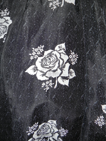 Vintage 1950s Black Heart Floral Bodice Princess Circle Dress - Vintage World Rocks - 6