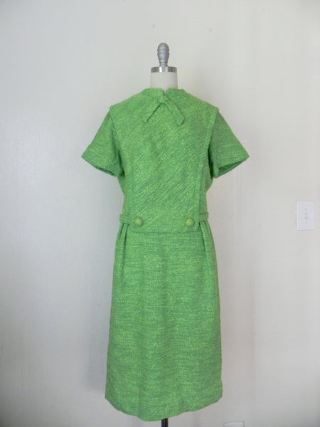 Vintage 1960's Green Tweed Dress by R & K Originals - Vintage World Rocks - 2