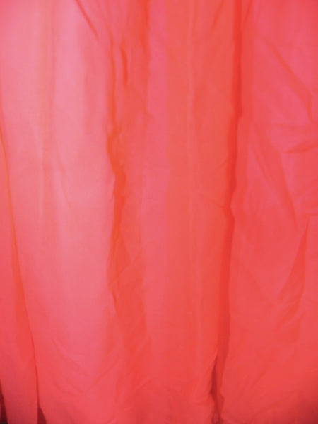 Vintage 1950s Red Chiffon  Flare Sleeveless Evening Gown/ Dress - Vintage World Rocks - 5