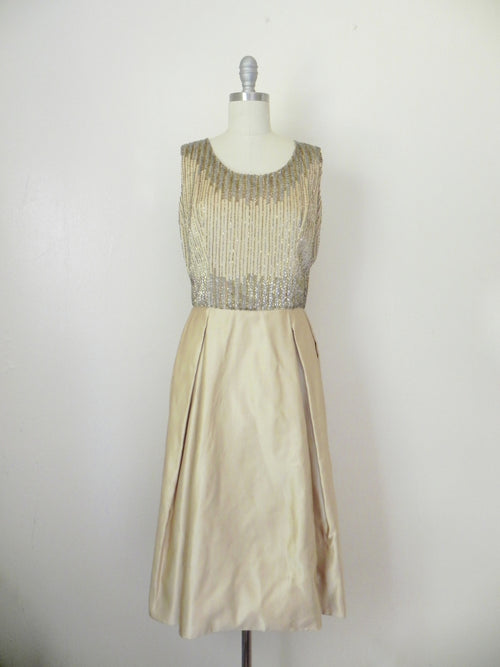 Vintage 1980s Rizik Brothers Gold Sequin Evening Gown - Vintage World Rocks - 2