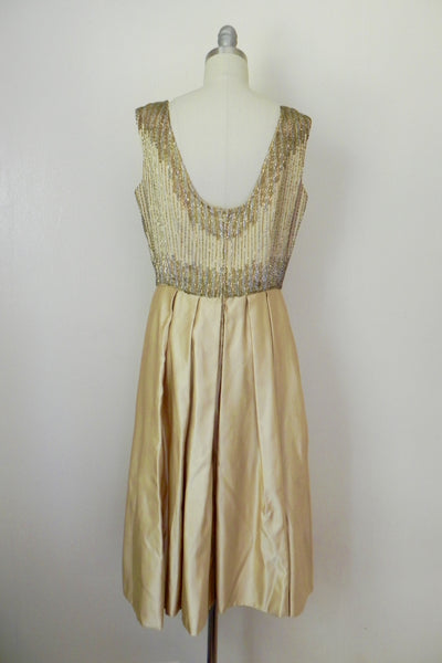Vintage 1980s Rizik Brothers Gold Sequin Evening Gown - Vintage World Rocks - 5