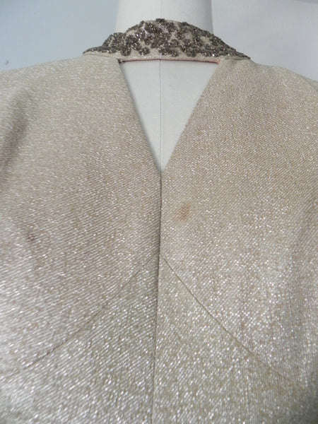 Vintage 1940s-1950s Gold Metallic Sequin Jumpsuit AS IS - Vintage World Rocks - 7